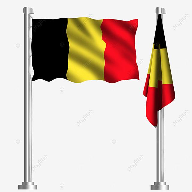 waving belgian flag of western europe european union