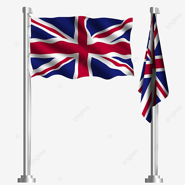 waving british flag of london european union
