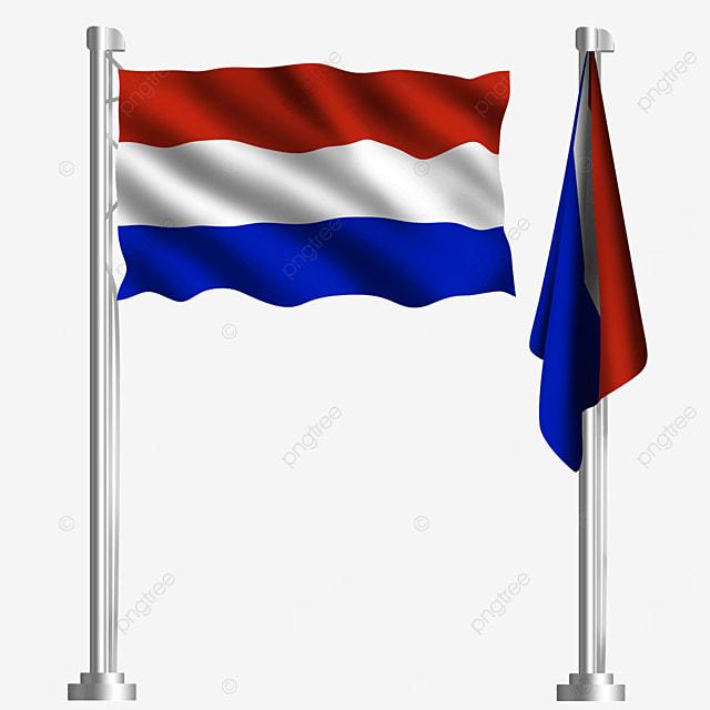 waving dutch flag of european union amsterdam