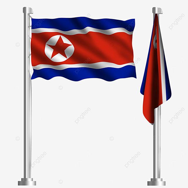 waving flag of the democratic peoples republic of korea