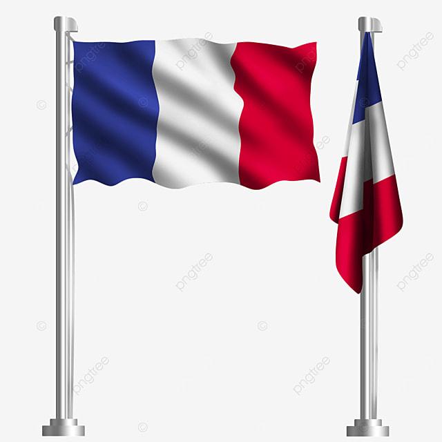 waving french flag in paris europe