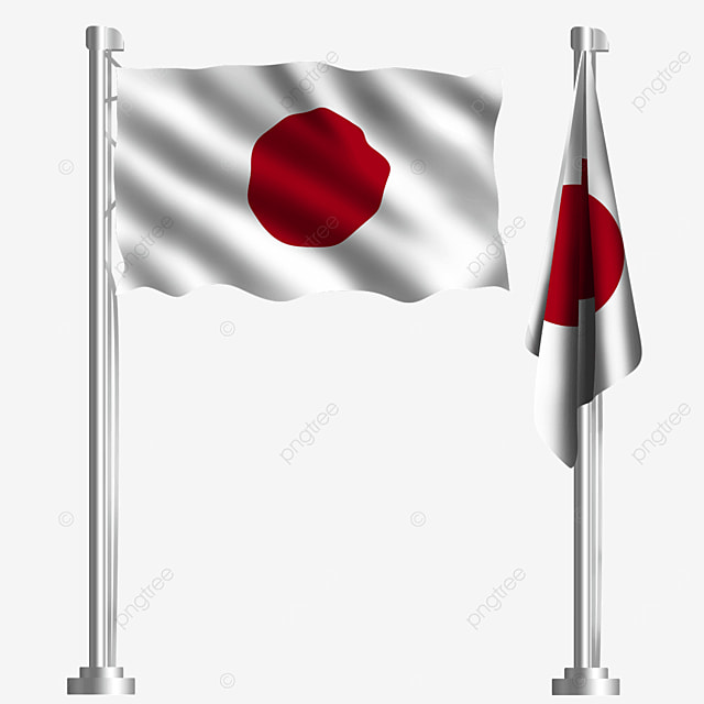 white waving japanese flag