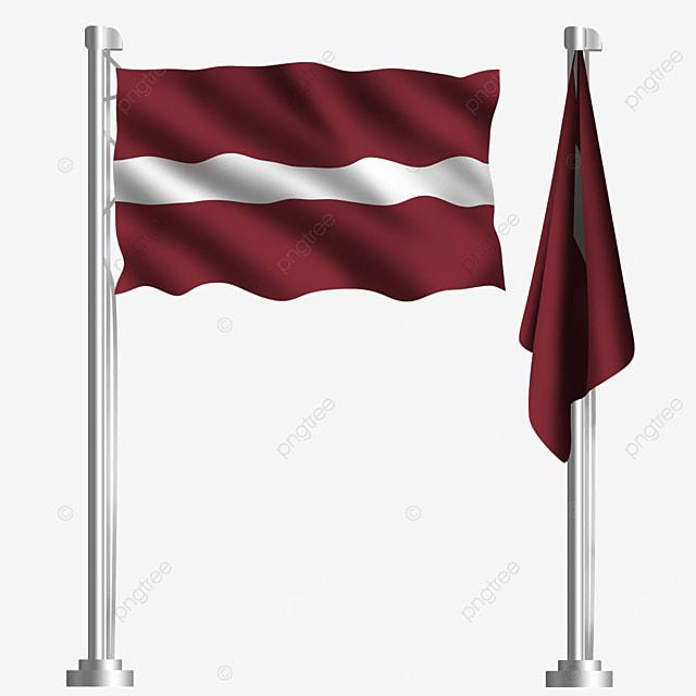 white waving latvia flag with crimson stripes