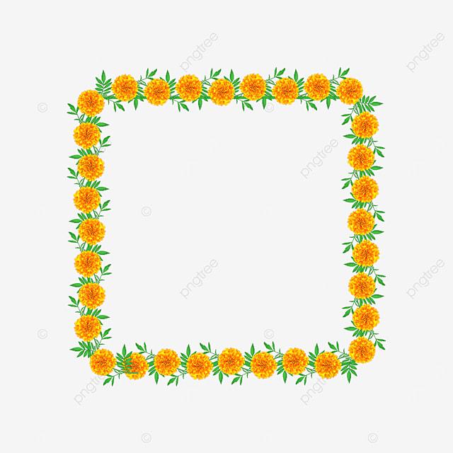 yellow square flower border
