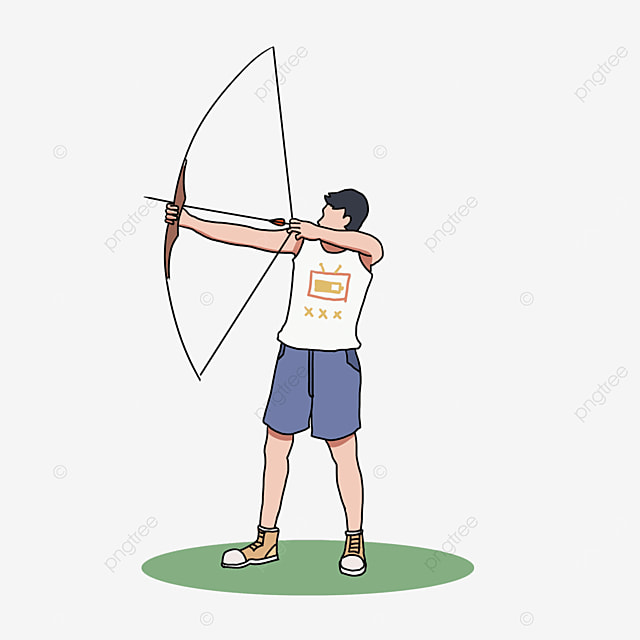 archery white character clip art