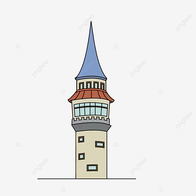 blue castle tower clipart