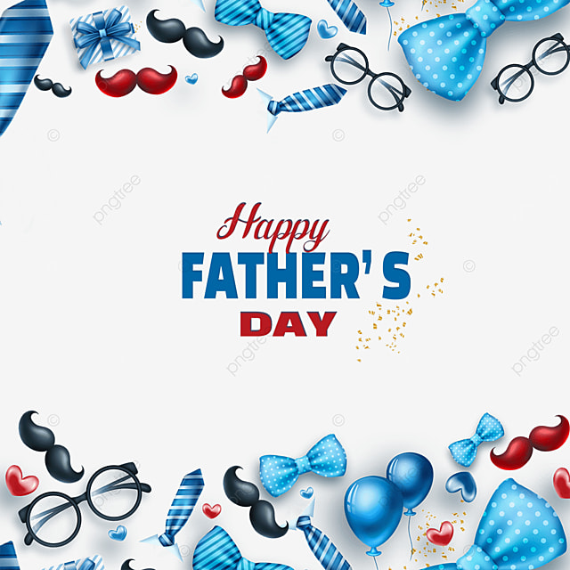 blue happy fathers day border