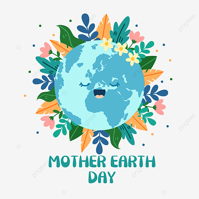 blue mother earth day plant decoration