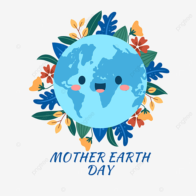 blue mother earth day plant protection