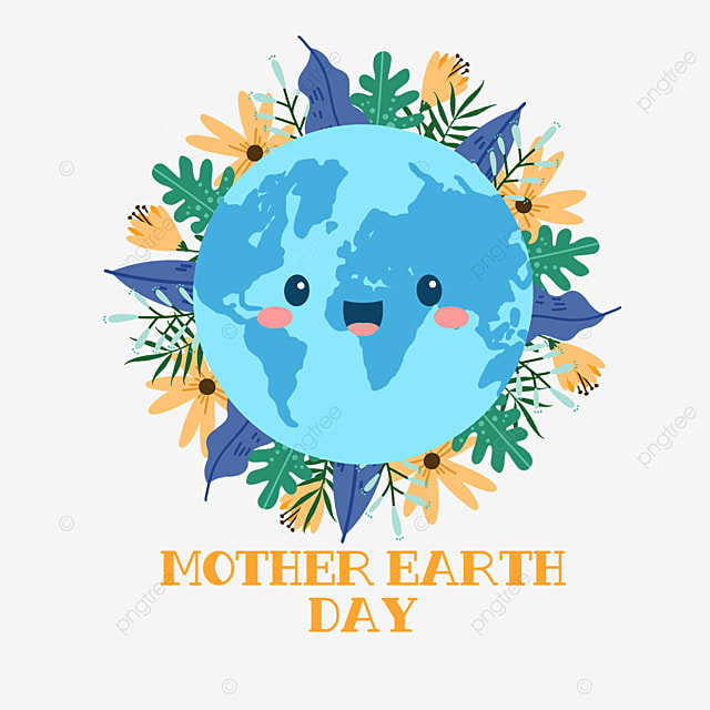 blue mother earth day plants surround nature