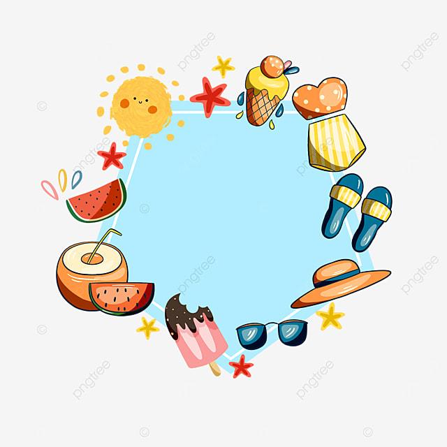 blue summer sun sunglasses sticker border