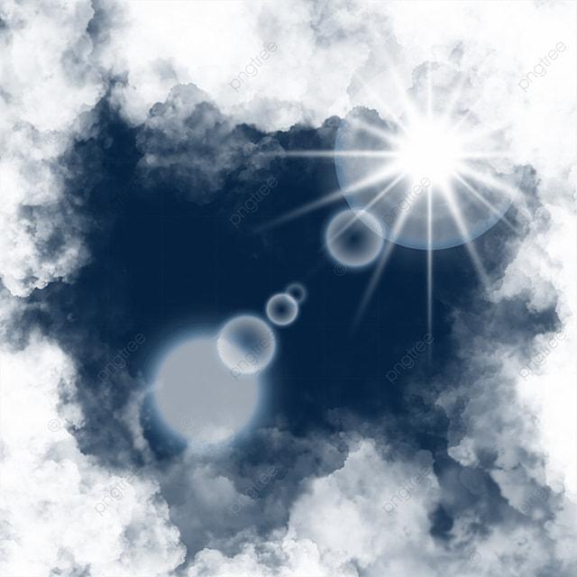 clouds decoration sun halo