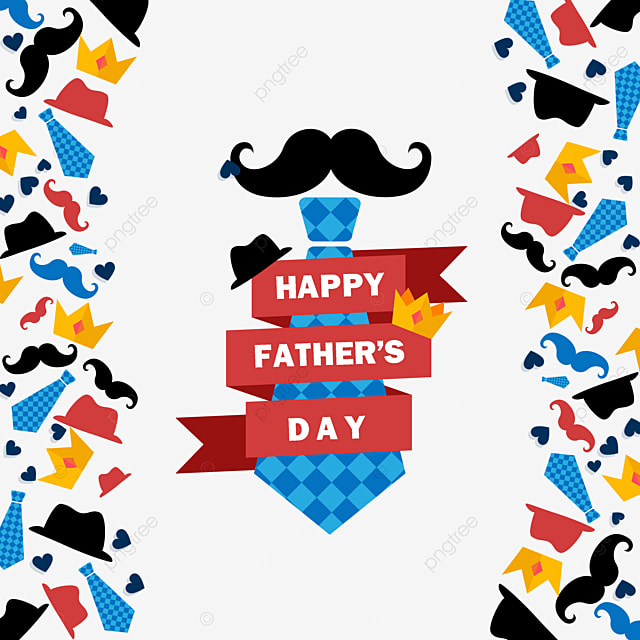 colorful happy fathers day atmosphere border