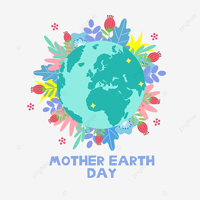 colorful mother earth day environmental plants