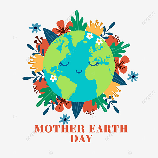colorful mother earth day plant decoration