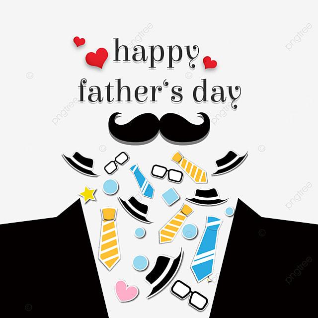 creative happy fathers day border
