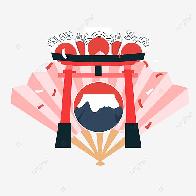 creative torii fan mount fuji