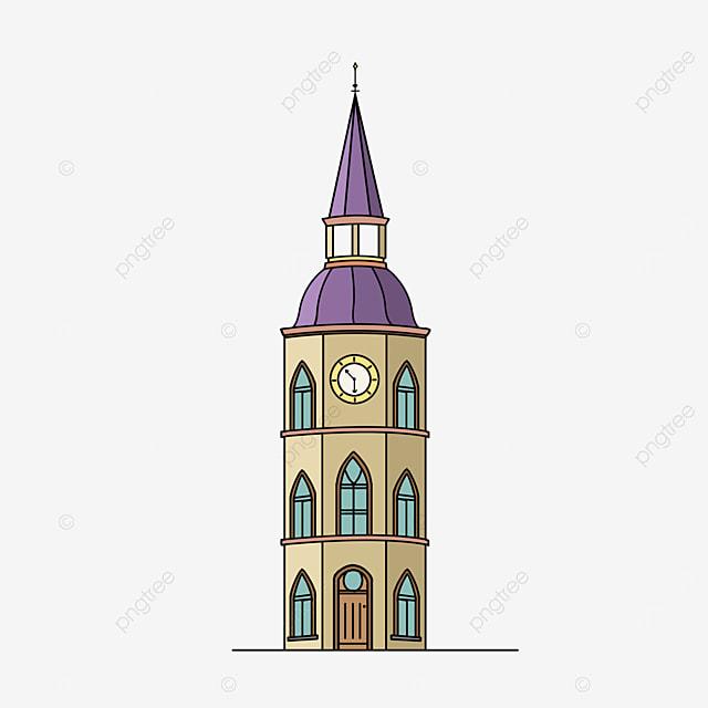 european architecture tower clip art