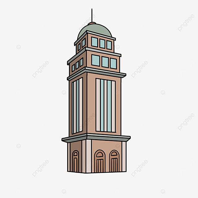 european modern towers clipart