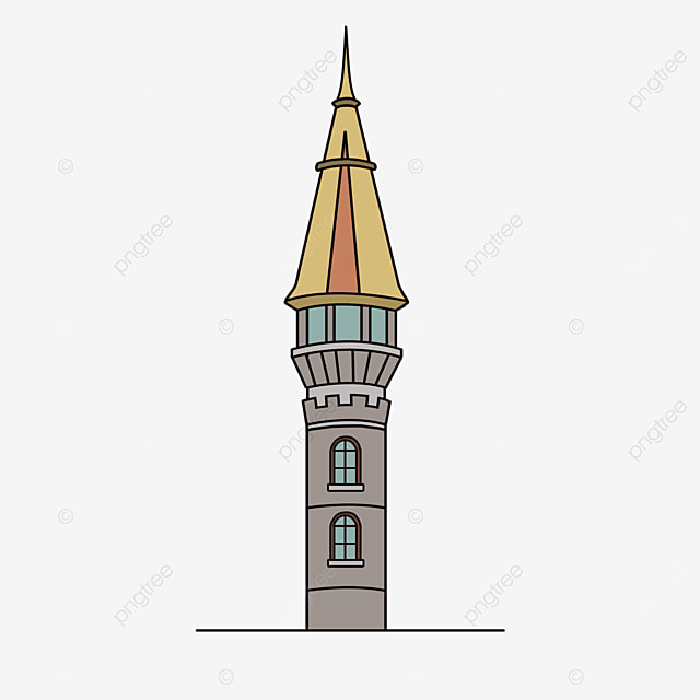 european tower building clip art