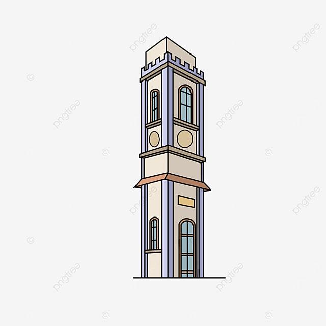 european tower building clipart
