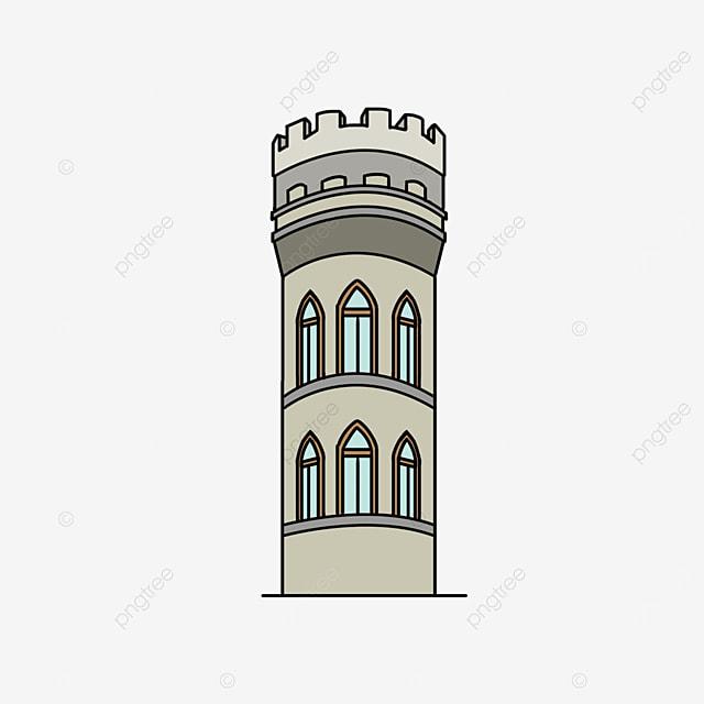 european tower fortress clip art