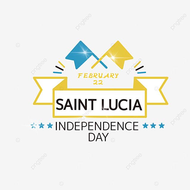 flag cartoon illustration effect saint lucia independence day
