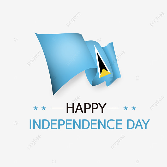 flag effect happy independence day saint lucia