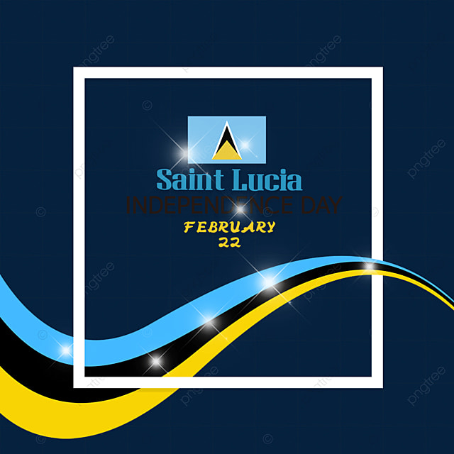 flag effect saint lucia independence day