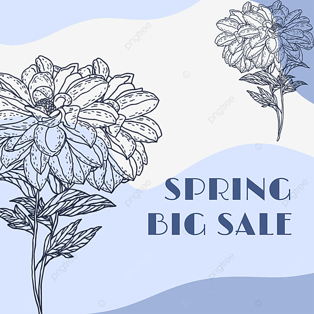 flower lineart color block promotion advertisement