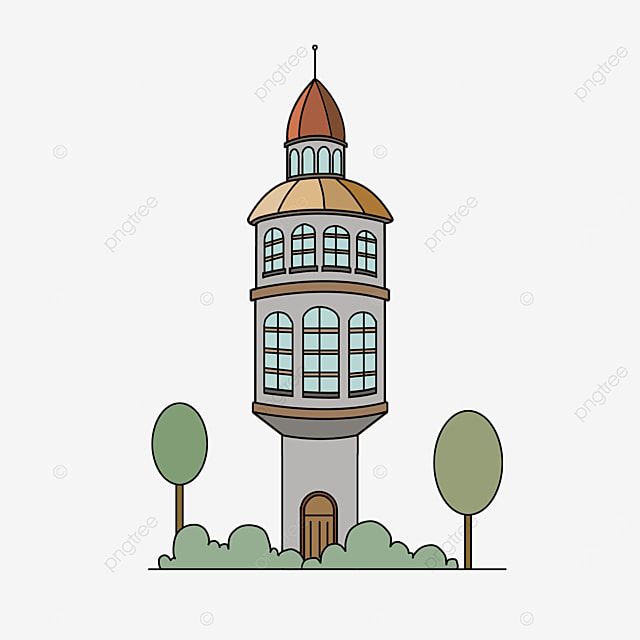 foreign building tower clip art