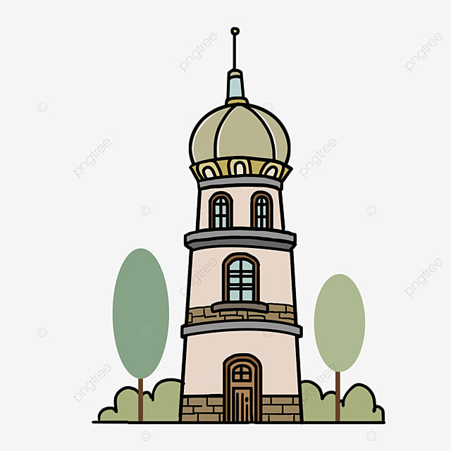 foreign tower building clipart