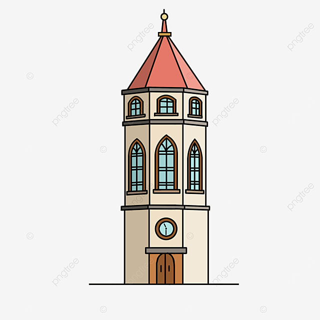 foreign tower tall building clipart