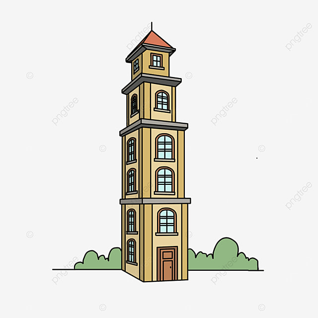 foreign yellow building clip art