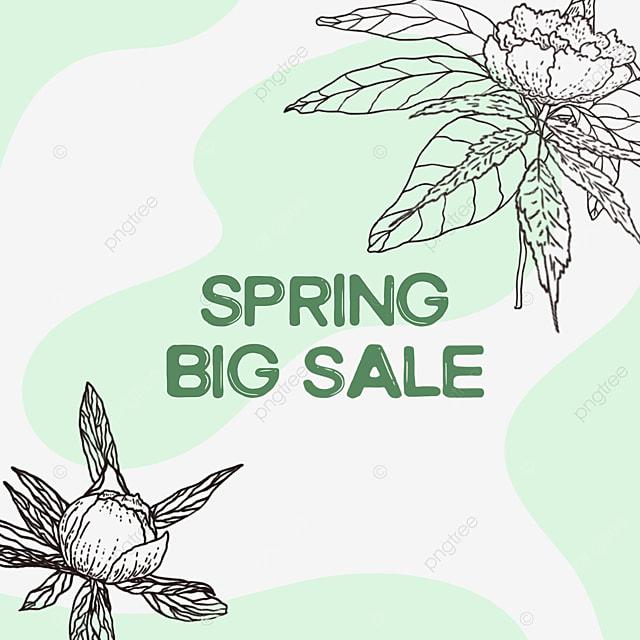 green flower bud linear draft sale