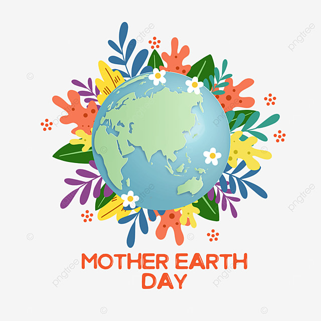 green mother earth day plant decoration