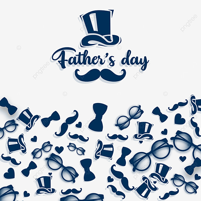 happy fathers day in blue hat