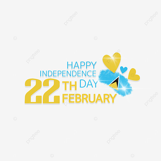 love pattern saint lucia independence day