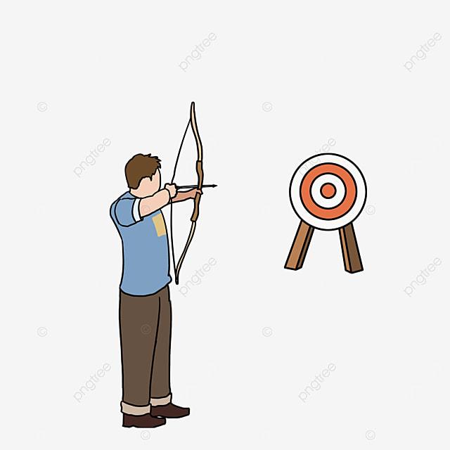 man target archery clipart