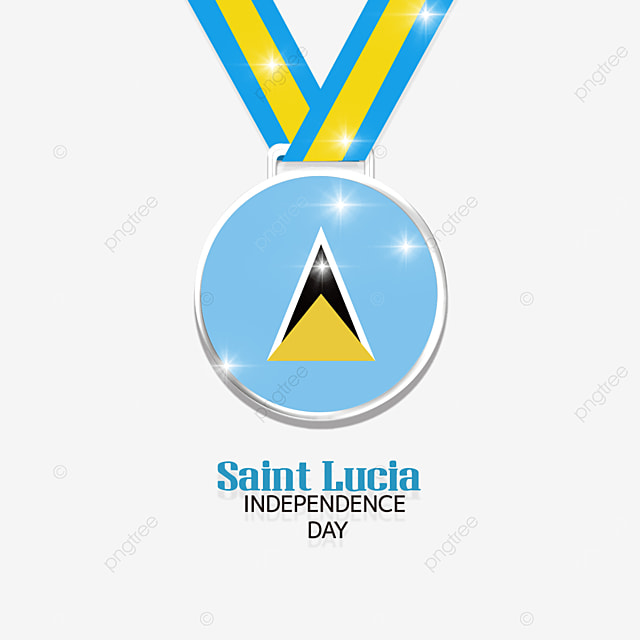 medal streamer saint lucia independence day