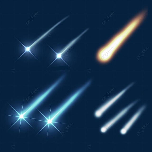 meteor falling glow light effect