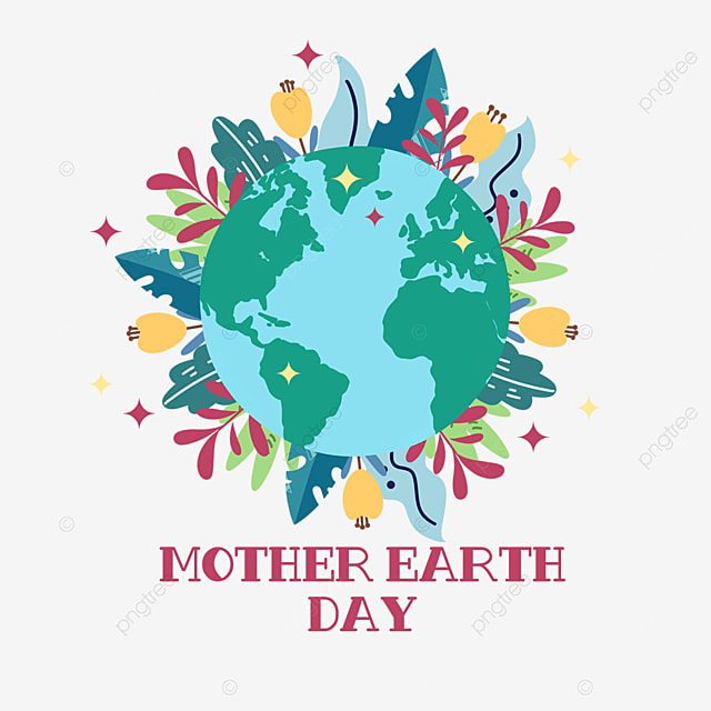 mother earth day leaf plant surround decoration