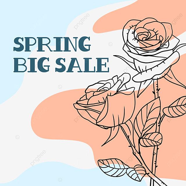orange and blue color matching flower line draft sale