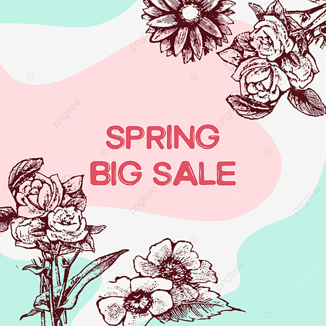 pink flower lineart drawing promotional offer
