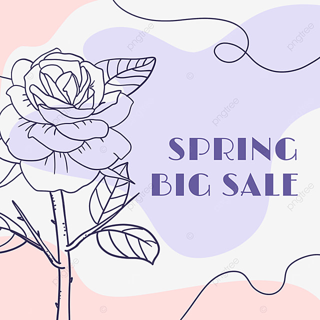 purple bouquet blooming lineart promotion