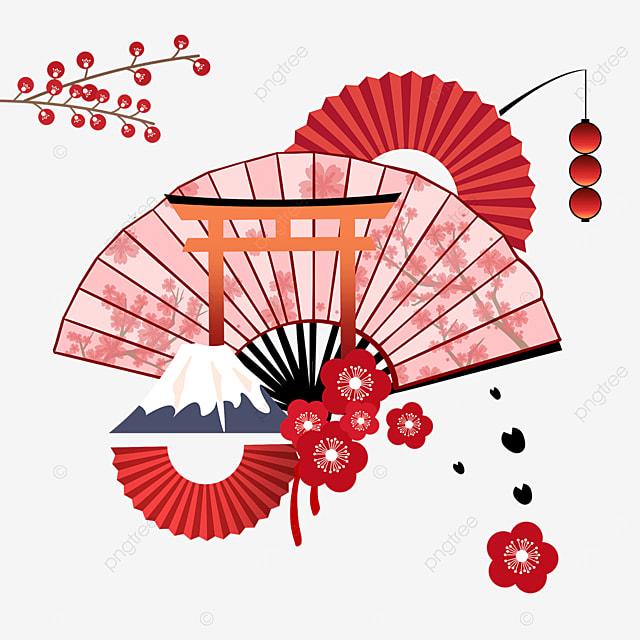 red fan mount fuji torii