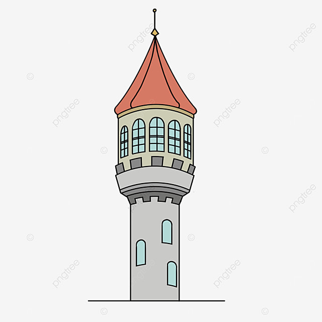 red foreign tower clip art