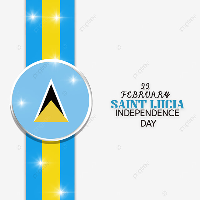 ribbon medal effect saint lucia independence day