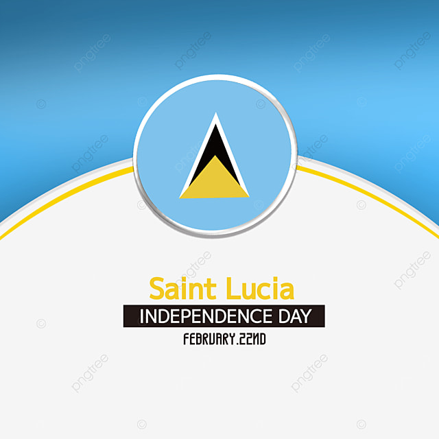 round medal effect saint lucia independence day