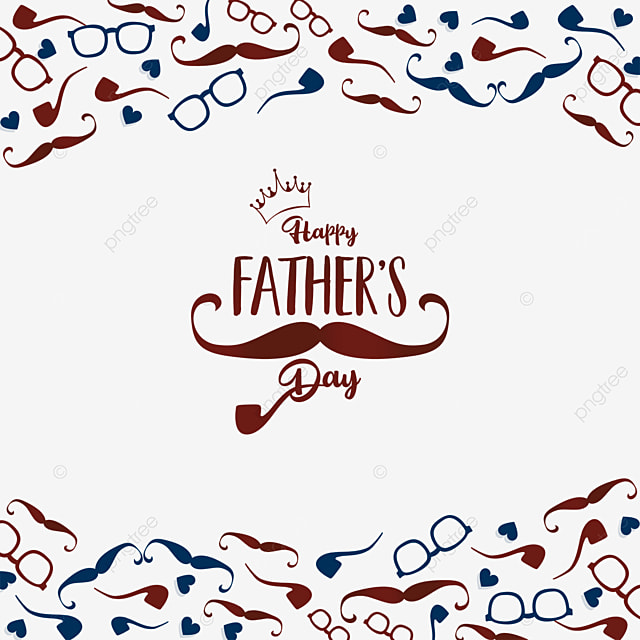 simple happy fathers day border